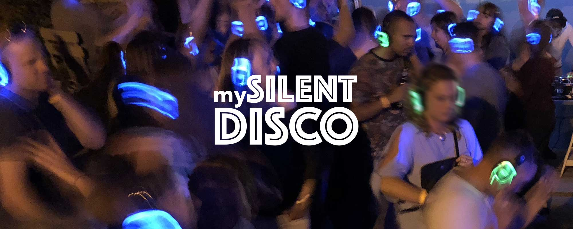 Indoor silent disco event