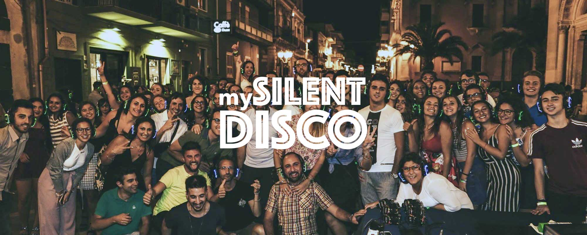 Outdoor silent disco event in Italy