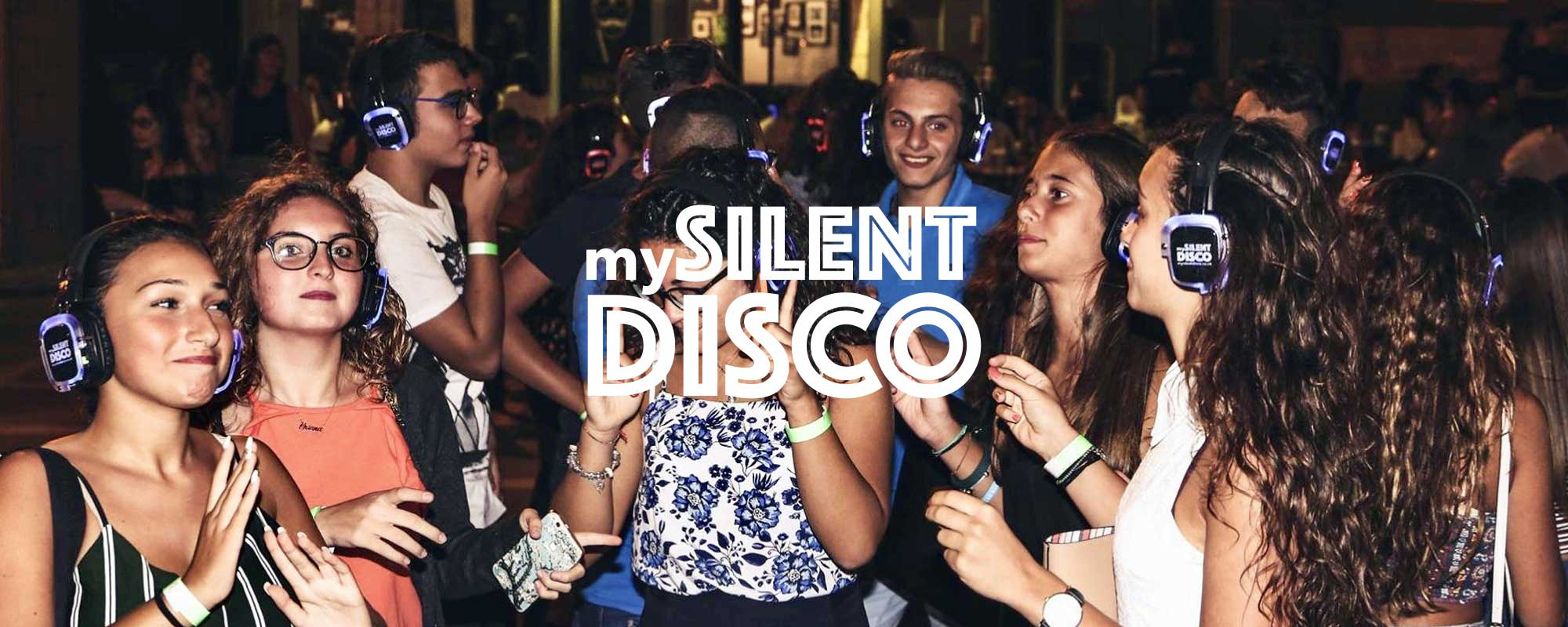 Outdoor silent disco in Italy